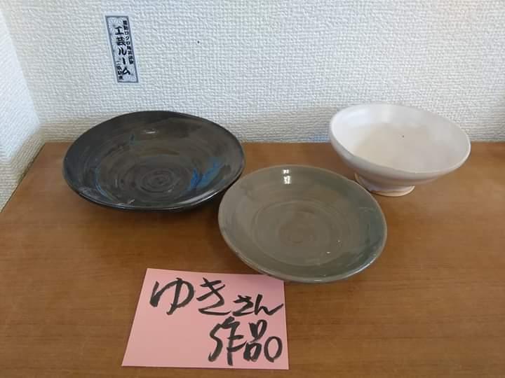 ゆきさんの電動ろくろ陶芸体験作品!