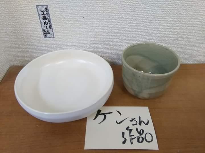 ケンさんの電動ろくろ陶芸体験作品